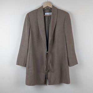 MaxMara Wool Blend Blazer with Tie Front Closure